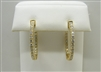 14 K Yellow Gold Diamond Hoop Earrings
