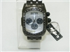 JoJo King Black Stainless steel watch with diamonds