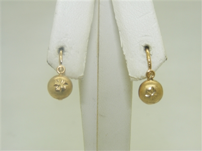 18k Yellow Gold Kids Leverback earrings