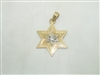 14k yellow gold Six Point Star pendant