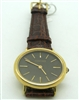 Concord Black Face Sapphire Dial 18 K Gold Watch