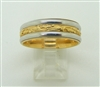 Comfort-Fit Handmade 18k and Platinum Wedding Band Ring