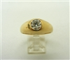 Men's 14 K Yellow Gold Diamond Ring (Vintage 1970's)