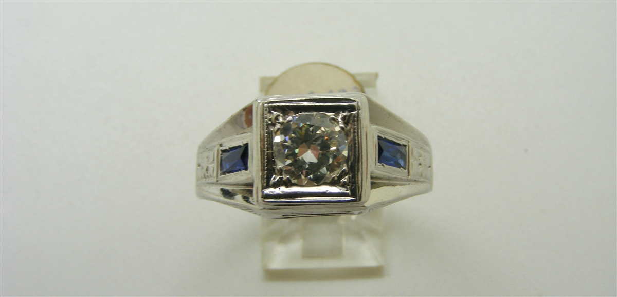 Blue Sapphire Ring For Men Price Men's Vinta...