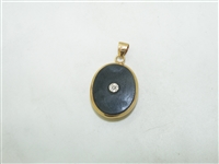 14k Yellow gold Double Side Pendant