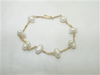 18k Yellow gold Pearl Bracelet