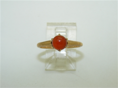 10k Rose Gold ​Cornelian Stone Ring