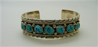 925 Sterling Silver Turquoise Cuff Bracelet