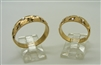 14 K Yellow Gold Star Designed Woman's & Mens Rings (Set)