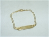 ID 14k Yellow Gold Bracelet