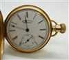Vintage American Walhtham 14k Yellow Gold Pocket Watch