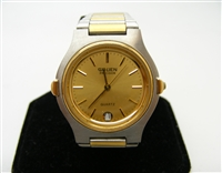 Gruen Since 1874 Precision Quartz Two Tone Watch (W. Germany Movement)