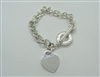 Pre-Owned Tiffany & Co Heart Tag Toggle Bracelet In Sterling SIlver