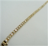 Woman's 14 K Yellow Gold Diamond Tennis Bracelet