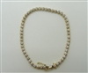 14k Yellow Gold Four Prong Diamond Tennis Bracelet
