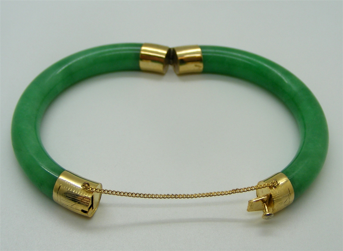 rolled gold emerald jewellery filled bracelet jewelry edwardian product bangles shamrock irish bangle estate antique hinged