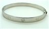 White Gold Screw Bangle Bracelet