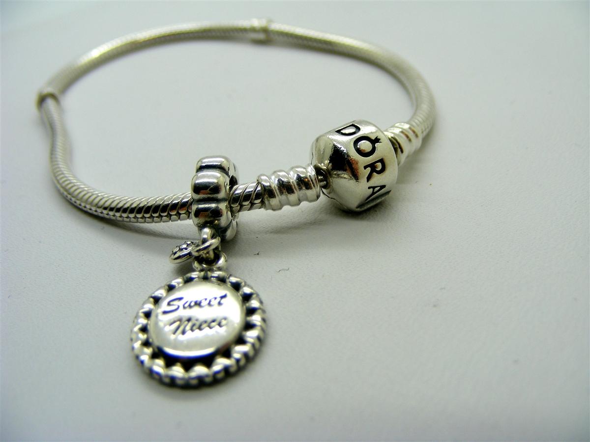 Pre Owned Pandora Sweet Niece Charm Bracelet
