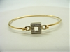 Open Square Two Tone Bracelet