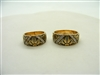 Designed Antique Finish Wedding Band Ring Set