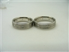 14K white Gold Diamonds Wedding Band Set