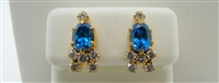 LONDON BLUE TOPAZ DIAMOND EARRINGS (22K YELLOW GOLD)