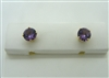 18 K Yellow Gold Amethyst Stud Earrings