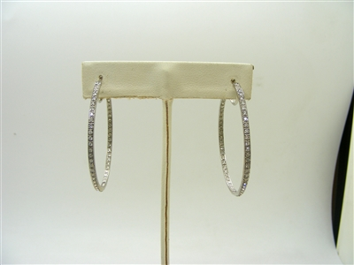 1 Carats 1.75 inches  Hoop Earrings