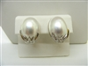 Mabe Oval Pearl Earrings