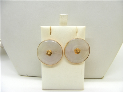 Lavender jade Gold Earrings