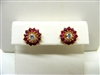 Natural Ruby Studs Jacket Earrings