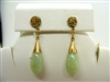 Tear Shape Natural Jade Earrings