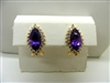 Marquise Amethyst Earrings