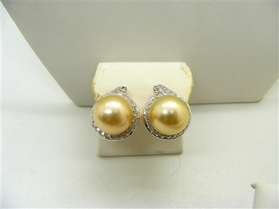 Gold South Sea Pearls Earrings