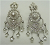 18K White Gold Diamond Chandelier French Clip earrings