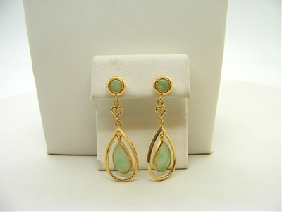 Natural Jade Hanging Earrings