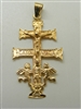 14 K Yellow Gold  CaraVaca Crucifix Pendant