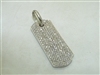 White Gold Diamond Dog Tag Pendant