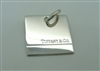 Tiffany & Co Silver Dog Tag Pendant