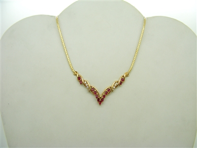 Ruby Marquise Necklace