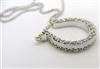 18 K White Gold & Diamond Necklace