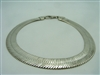 WOMAN'S HERRINGBONE NECKLACE 925 STERLING SILVER ITALY