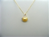 14 K Yellow Gold Cultured Pearl Diamond Pendant Necklace