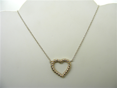 Tiffany & Co Open Heart Pendant
