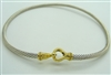 Ladies David Yurman Cable Buckle Necklace. (925 Sterling Silver with 18K Gold)