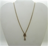 Vintage 1960 Italian Slider Necklace Pendant