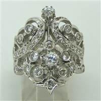 Ladies Diamond Vintage Art Deco Ring (Pre-Owned)