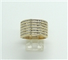 14 KT SIX ROWED DIAMOND YELLOW GOLD WOMEN'S RING BAND