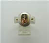 Woman's 925 Sterling Silver with 750 18 K Yellow Gold Pinkish Tourmaline Ring..