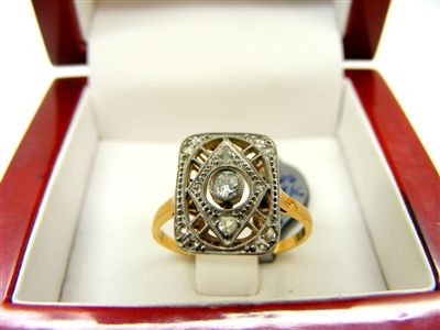 Art Deco Gold and Diamond Ring